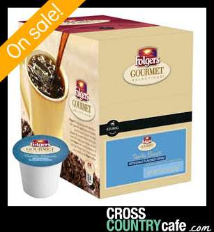 Folgers Vanilla Biscotti K-cups only $11.99 each at Cross Country Cafe