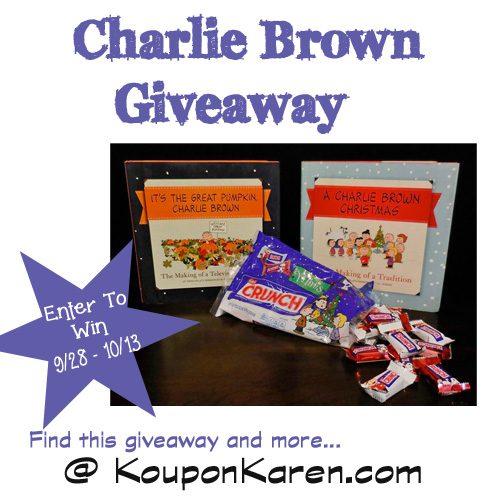 Charlie Brown Giveaway