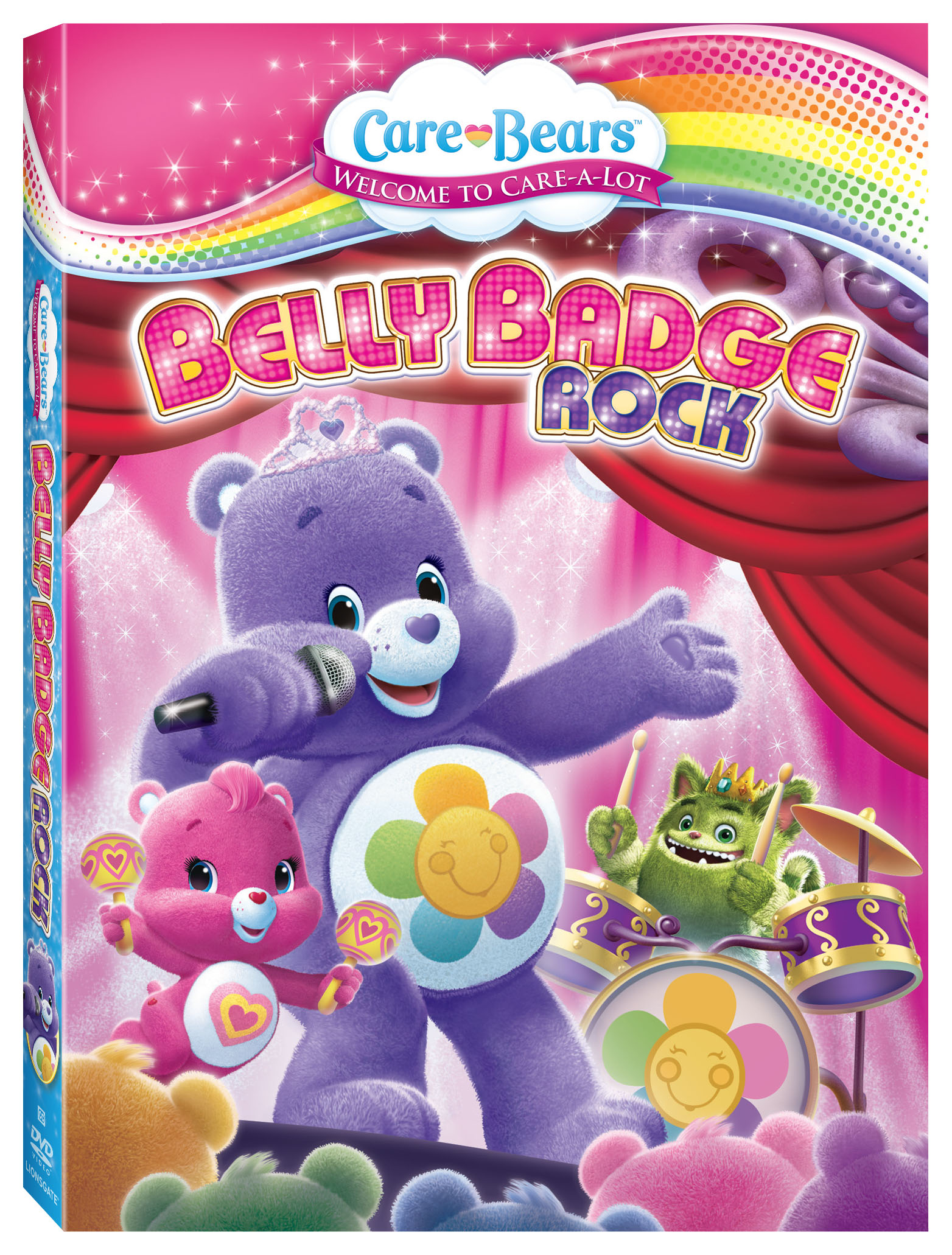 image relating to Care Bear Belly Badges Printable named Treatment Bears: Tummy Badge Rock DVD Giveaway