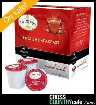 Twinings English Breakfast Keurig K-cup on sale for $9.99 per box of 24!