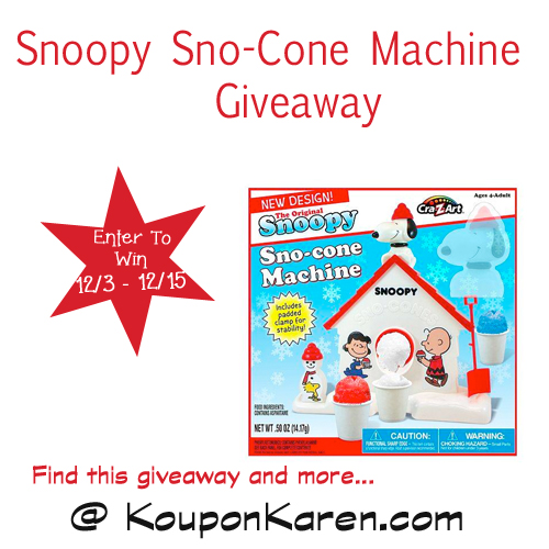 Snoopy-Sno-Cone-Machine-Giveaway