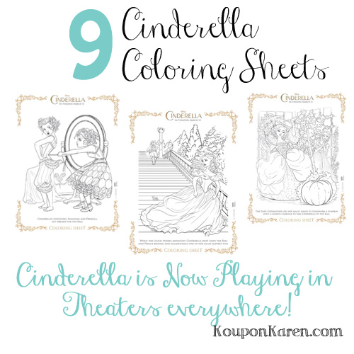 9 Cinderella Coloring Sheets
