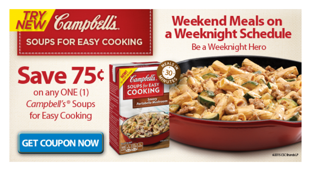 Campbell's® Soups for Easy Cooking Printable Coupon #WeekNightHero