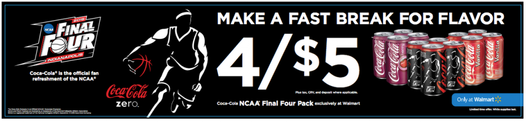Get Coca-Cola NCAA® Final Four Packs at Walmart #FinalFourPack
