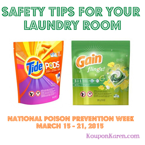 Safety Tips For Your Laundry From Tide and Gain for National Poison Prevention Week