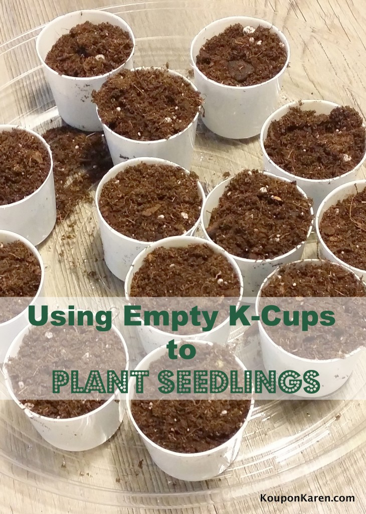 Using Empty K-Cups to Plant Seedlings #BringingInnovation #Ad