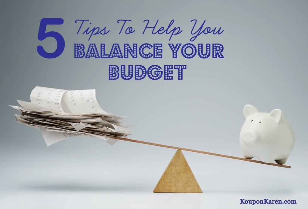 5 Tips To Help You Balance Your Budget