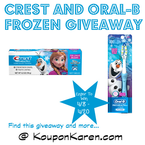 Crest and Oral-B Giveaway