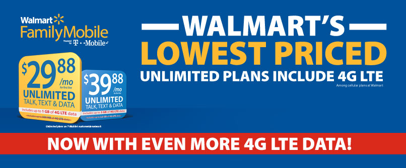Walmart's Lowest Priced Unlimited Plan
