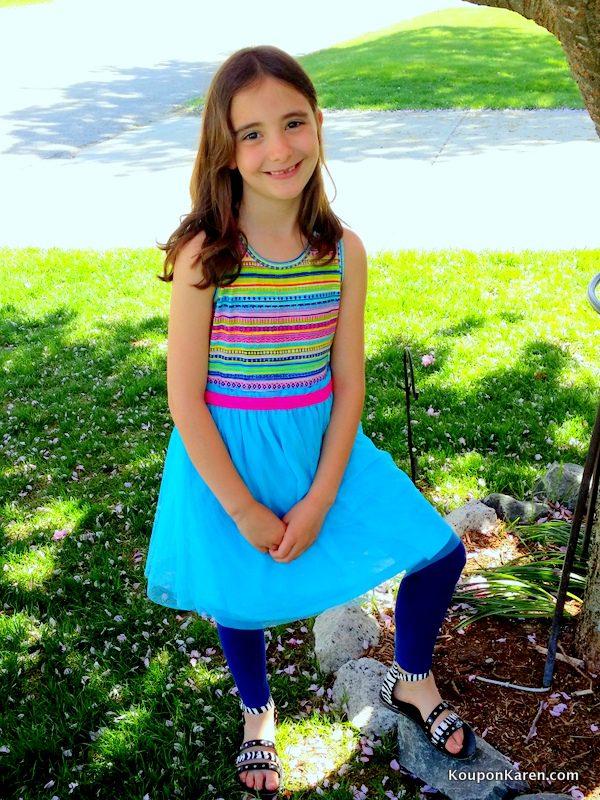 FabKids Summer Stripe Tutu Dress
