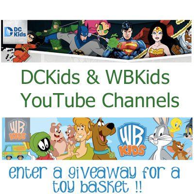 Warner Bros and DCKids YouTube Channels
