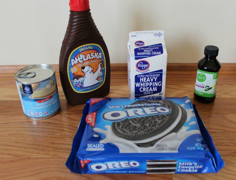 No Churn Oreo Fudge Swirl Ice Cream Recipe