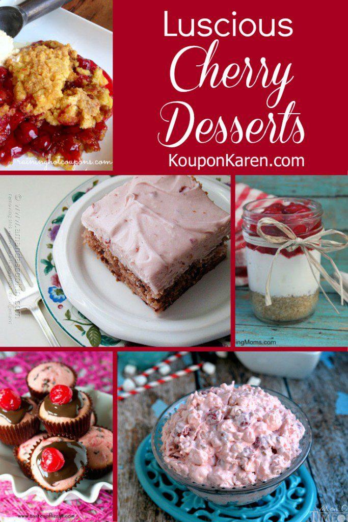 Luscious Cherry Desserts
