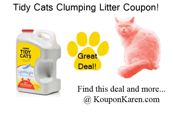 graphic about Tidy Cat Printable Coupons referred to as Tidy Cats Coupon-Get it ahead of its absent!
