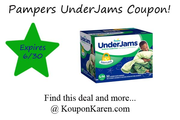 Pampers UnderJams Coupon