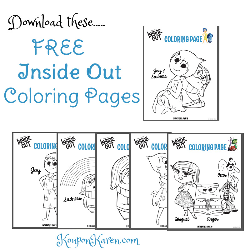 Inside Out Coloring Sheets