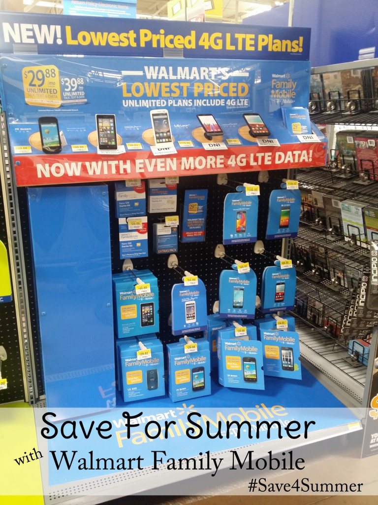 Save For Summer with Walmart Family Mobile