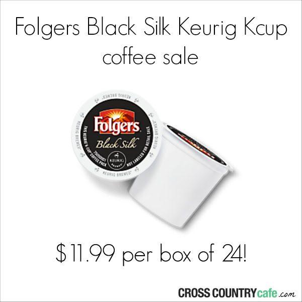 Folgers Black Silk K-cup Deal