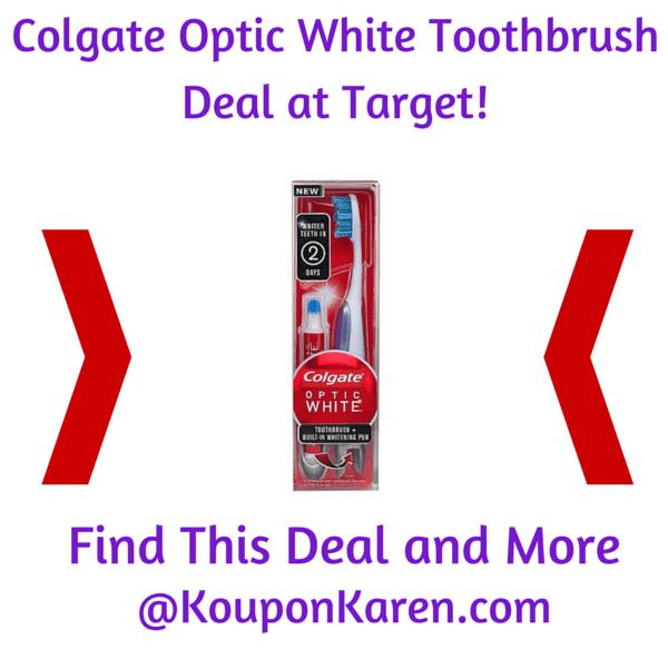 Colgate Optic White Toothbrush