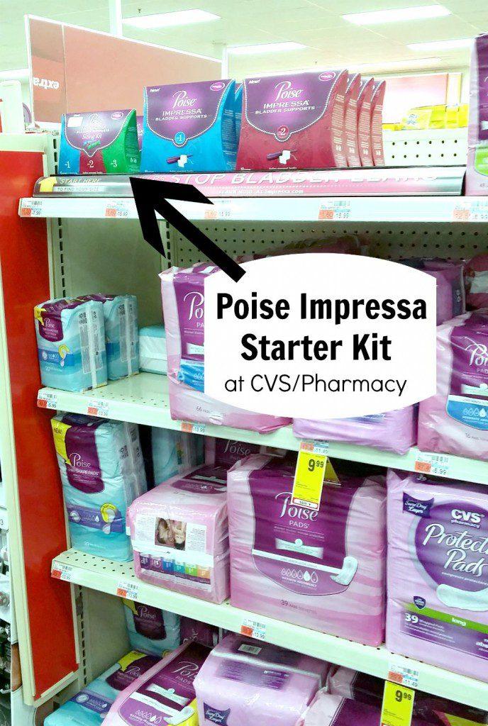 Poise Impressa Starter Kit CVS