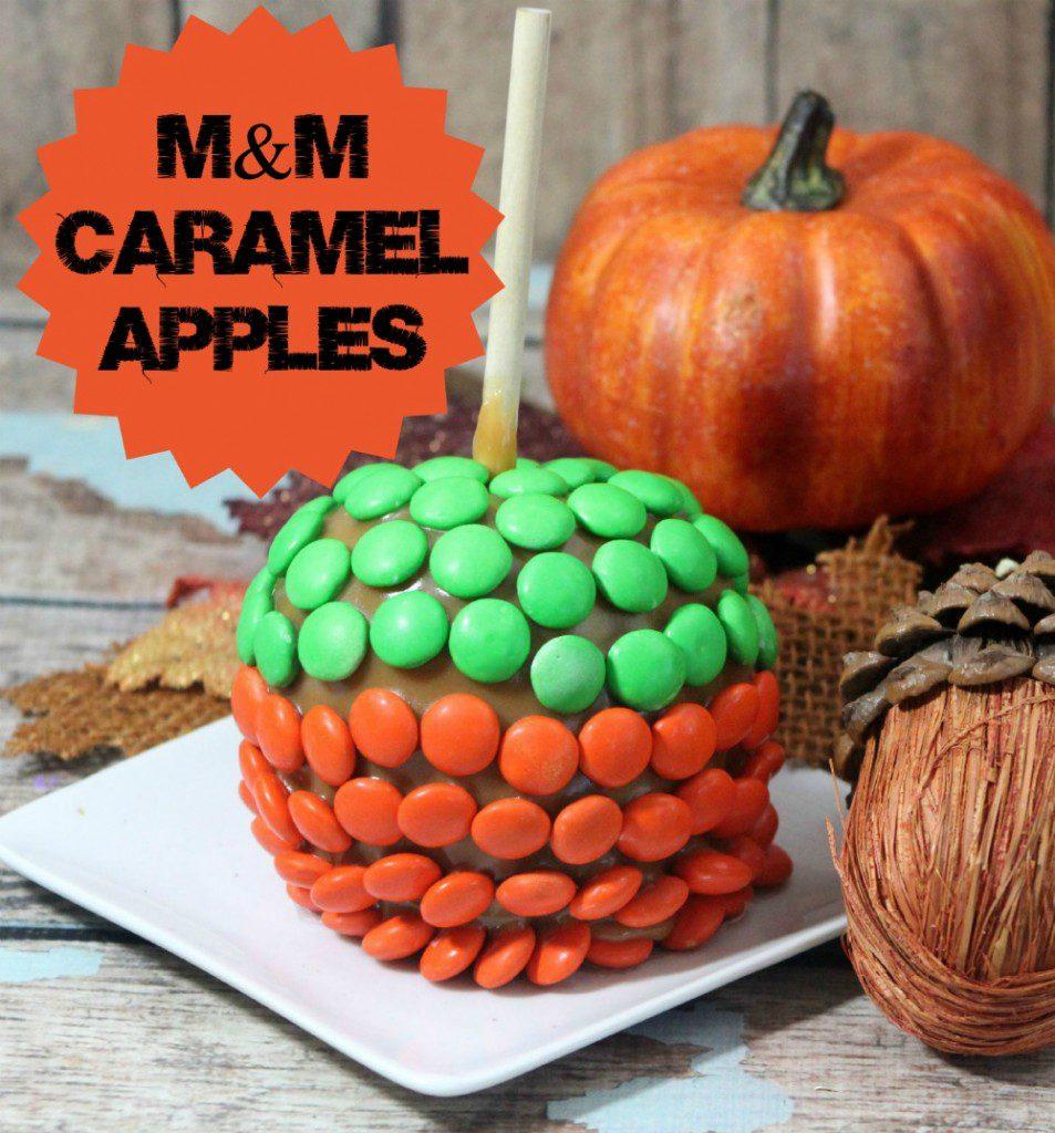 M&M Caramel Apples Recipe