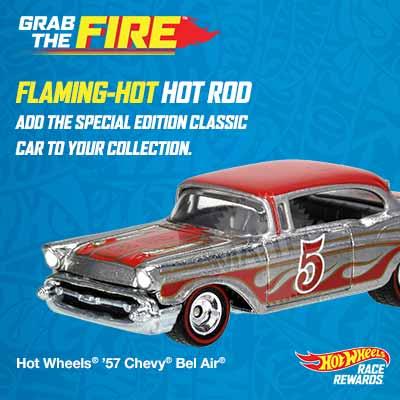 Hot Wheels® Race Rewards: Grab The Fire™ program