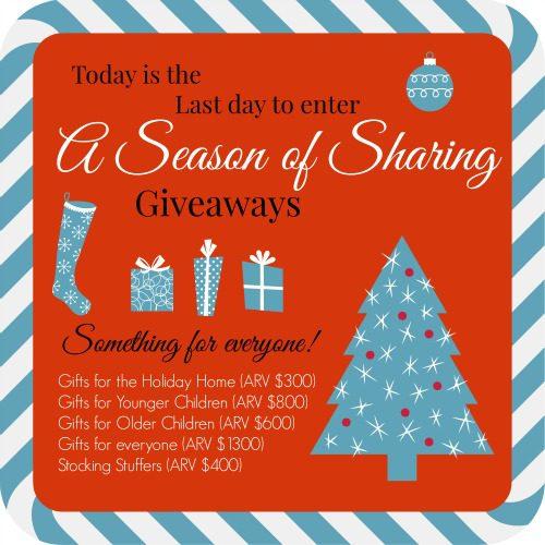 Season of Sharing Giveaways