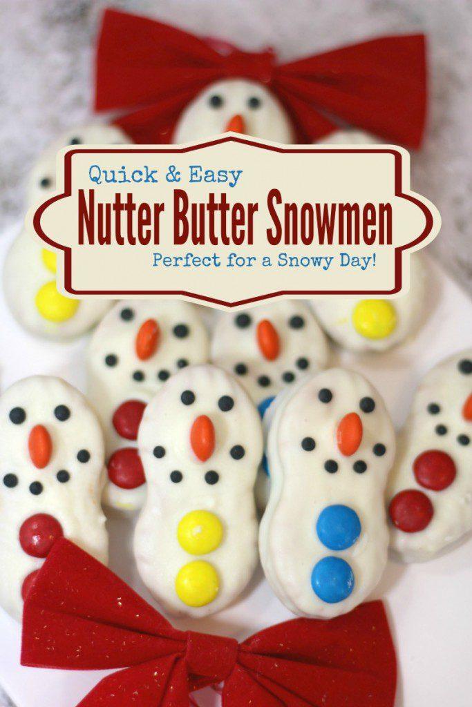 Nutter Butter Snowmen cookies
