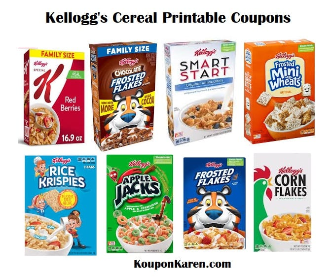 Kellogg's Cereals Printable Coupons