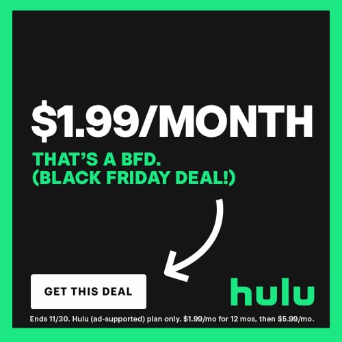 Hulu Black Friday 2020 Deal
